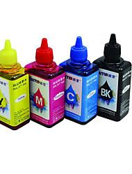 tinta de la impresora (4 color de la venta liado negro rojo 100ml 100ml 100ml 100ml amarillo azul)