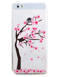 For HUAWEI P9 P8Lite Y5C Y6 Y625 Y635 5X 4X G8 Case Cover Plum Tree Pattern TPU Material Phone Shell