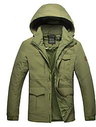 Wandern Softshell Jacken Herrn warm halten / tragbar Winter Terylen Grün / Blau / Armeegrün XL / XXL / XXXL / XXXXL Camping & Wandern-