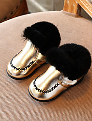 Girl's Boots Comfort Leatherette Casual Black / Gold