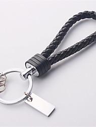 chaveiro chave de automóvel anel de corda de couro tecidos à mão