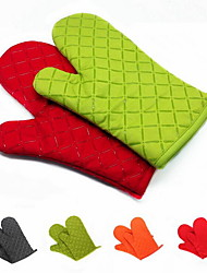 2 Pieces Pot Holder & Oven Mitt For Cooking Utensils / Bread / Cake / Cookie / Pizza Silicone Heat-insulated