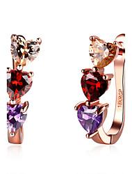 Earring Heart Stud Earrings Jewelry Women Fashion