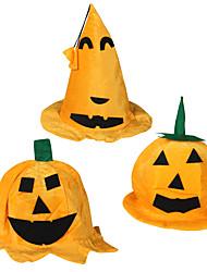 Halloween Props Cotton Cosplay Accessories Christmas Carnival Pumpkin Octagonal Hat