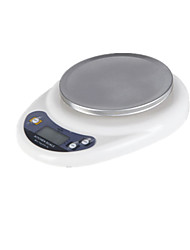 Electronic Kitchen Scale With A Plate (Note Stainless Steel Surface 5000g-1g)