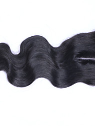 3.5x4 Inches Bleached Knots Brazilian Human Hair Body Wave Closure Top Quality Free Three iddle Part Lace Closure with Baby Hair