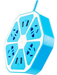 Four USB Multifunctional Fruit Strip (Blue)