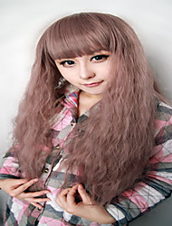 High Quality Cosplay Wigs Synthetic Women 28 Inches Long Curly Light Brown Purple Fashion Princess Lolita Wig