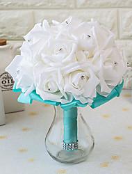 """Fleurs de mariage Rond Roses Bouquets Mariage La Fête / soirée Satin Mousse 7.87""""(Env.20cm)"""