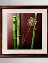 E-HOME® Framed Canvas Art, Bamboo Framed Canvas Print