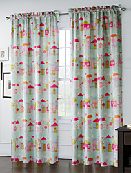 One Panel Curtain Designer , Cartoon Living Room Polyester Material Curtains Drapes Home Decoration For Window
