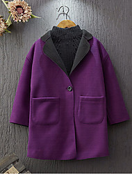 Girl's Casual/Daily Solid Trench CoatCotton / Rayon Winter / Spring / Fall Purple