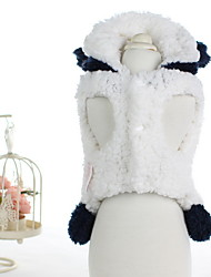 Dog Coat White Dog Clothes Winter Cartoon Cute / Casual/Daily /