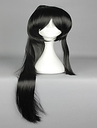 Japanese Massively Multiplayer Game ToukenRanbu ToukenRanbu TaroTachi Black Cosplay Wig  with 1 Ponytail