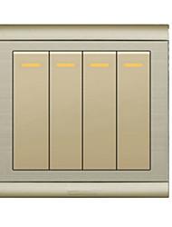 inox tréfilage quatre sockets de commutateur de commande unique