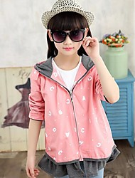Girl Casual/Daily Print Jacket & Coat,Cotton Fall Long Sleeve