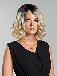 Elegant Medium Wavy Capless  Wigs High Quality Mixed Color Human Hair Mixed color