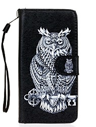 For Samsung Galaxy S7 S7 Edge Owl PU Leather Wallet S5 S6
