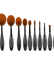 10 Blush Brush / Eyeshadow Brush / Brow Brush / Eyeliner Brush Professional / Travel / Full Coverage Plastic