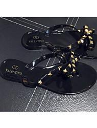 Черный / Миндальный-Женский-Для прогулок-Материал на заказ клиента-На плоской подошве-Удобная обувь-Сандалии