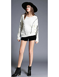 Sign tying 2016 new hedging thick line wool sweater bottoming shirt