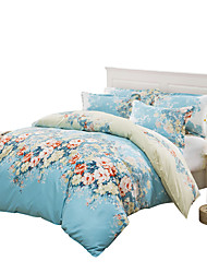 Mingjie Wonderful Big Blue Flowers Bedding Sets 4PCS for Twin Full Queen Size