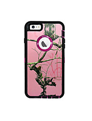 For iPhone 7 Case / iPhone 7 Plus Case / iPhone 6 Case Water/Dirt/Shock Proof / with Windows / Pattern Case Full Body Case Tree Hard PC