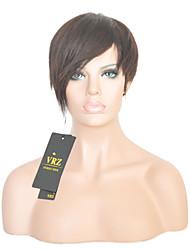 Short Human Hair Capless Wigs Short Brazilian  Hiar Straight Wigs for Black Women Color 1B