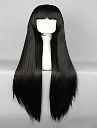 моды лолита горячей Shakugan нет любовника черный длинный прямой синтетический парик косплей