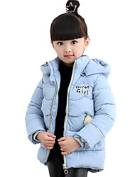 Girl's Casual/Daily Solid Down & Cotton Padded,Cotton Winter Blue / Pink / Red