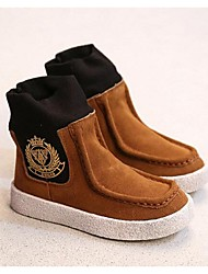Girl's Boots Comfort Suede Casual Black / Brown / Green