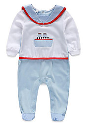 Baby Casual/Daily Solid Clothing Set-Cotton-Spring / Fall-Blue