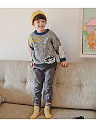 Boy's Casual/Daily Print Sweater & CardiganAcrylic Winter / Fall Gray