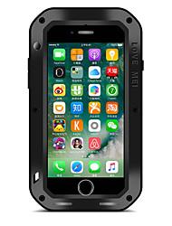 Для Вода / Грязь / Надежная защита от повреждений Кейс для Чехол Кейс для Один цвет Твердый Металл AppleiPhone 7 Plus / iPhone 7 / iPhone