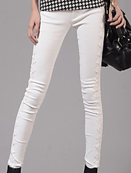 Women Solid Color Legging,Cotton