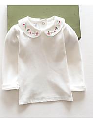 Tee-shirts Fille de Fleur Décontracté / Quotidien Coton Printemps / Automne Blanc