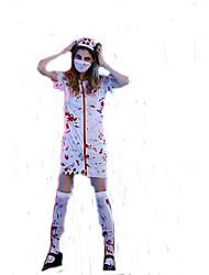 Costumi Cosplay Mago/Strega / Costumi da vampiro Cosplay per film Bianco Tinta unita Abito / Cappelli Halloween / Carnevale DonnaTessuto