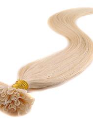 U Tip Hair Extensions Human 40g- 50g U-Tip Remy Human Hair Extensions 100 Strands Keratin Nail Tip Hair 0.5g/strand