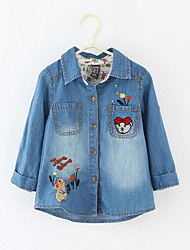 Girl's Casual/Daily Print JeansCotton Spring / Fall Blue