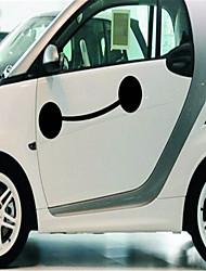 hotte de dessin animé sourire autocollant grand blanc profil arrière porte latérale fenêtre autocollants personnalité