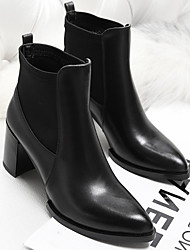 Women's Boots Spring / Fall Comfort Leather Casual Low Heel Others Black Others