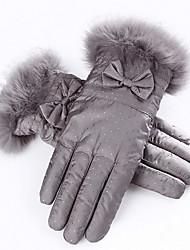 kvinders vinter ski handske (grå - tykkere)