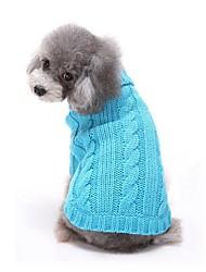 Katzen / Hunde Kostüme / Mäntel / Pullover / Kleider Rot / Blau / Rosa Hundekleidung Winter / Frühling/Herbst einfarbigNiedlich /