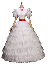 One-Piece/Dress Gothic Lolita / Sweet Lolita / Classic/Traditional Lolita / Punk Lolita Lolita Cosplay Lolita Dress Silver Floral