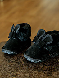 Girls' Baby Boots Comfort Suede Casual Comfort Black Blushing Pink Under 1in