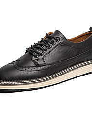 Men's Oxfords Leather Shoes Formal Wing Tip Brogue Business  Wedding Office Suit Shoes