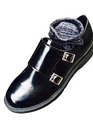 Mujer-Tacón Bajo-Confort-Botas-Vestido / Casual-PU-Negro