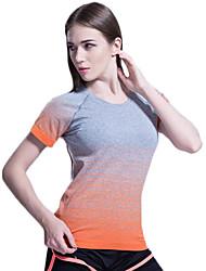 Deportes®Yoga Camiseta / Tops Transpirable / Secado rápido / Suave / Cómodo Alta elasticidad Ropa deportivaYoga / Pilates / Ejercicio y