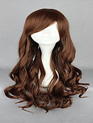 70cm Light Brown Cosplay Wigs  Lolita Zipper Classical Wavy Long Curly  Costume Party Wig