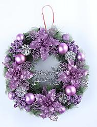 Christmas Wreath Purple Colour